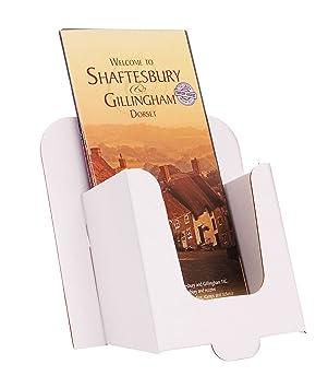 Stand-Store CARD-DL - Dispensador de folletos (para tamaño A6, 10 unidades), color blanco: Amazon.es: Oficina y papelería