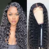 Water Wave Lace Front Wigs Human Hair 4x4 Lace Closure Human Hair Wigs for Black Women Brazilian Virgin Hair Wet and Wavy Wig