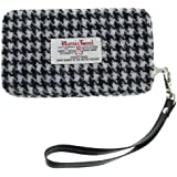 Black & White Square Check Harris Tweed Phone Clutch Col 29 by Glen Appin