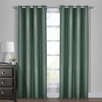 Amazon.com: Diamond Turquoise Curtains, Blackout Top Grommet ...
