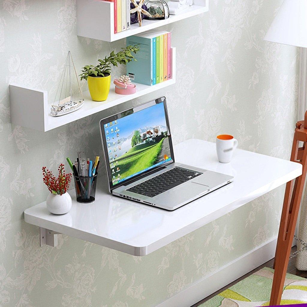 Massivt trä väggbonad datorbord fällbart köksbord bord (färg: Vit, storlek tillval) (färg: 110 x 40 cm) 80*40cm