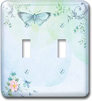 3drose Lsp 240177 2 Double Toggle Switch Blue Butterfly Sheet In Vintage Style Amazon Com