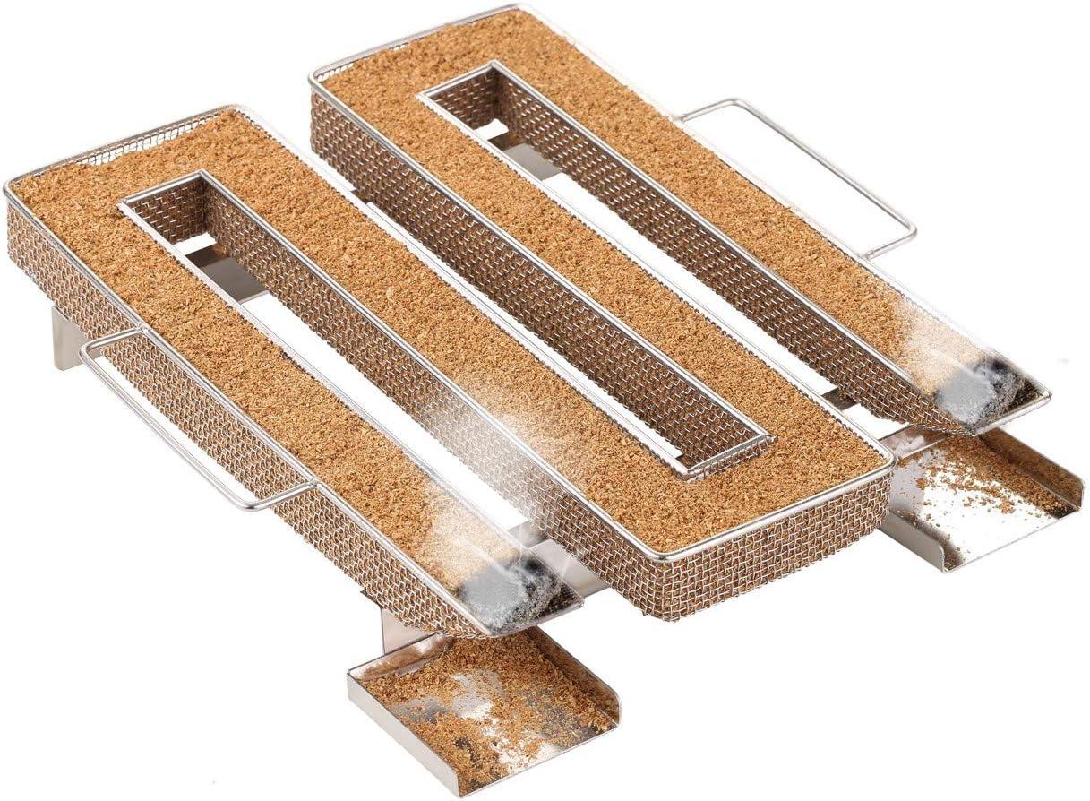 LIHAO Generador de Humo Frío Cocina Ahumador de Acero Inoxidable para Barbacoa Carne Pescado (con Forma de M)