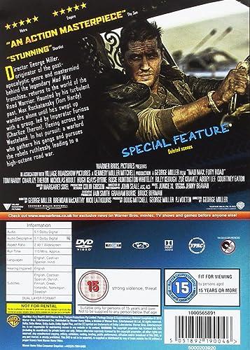53c977e8e8f Mad Max: Fury Road [DVD] [2015]: Amazon.co.uk: Tom Hardy, Charlize ...
