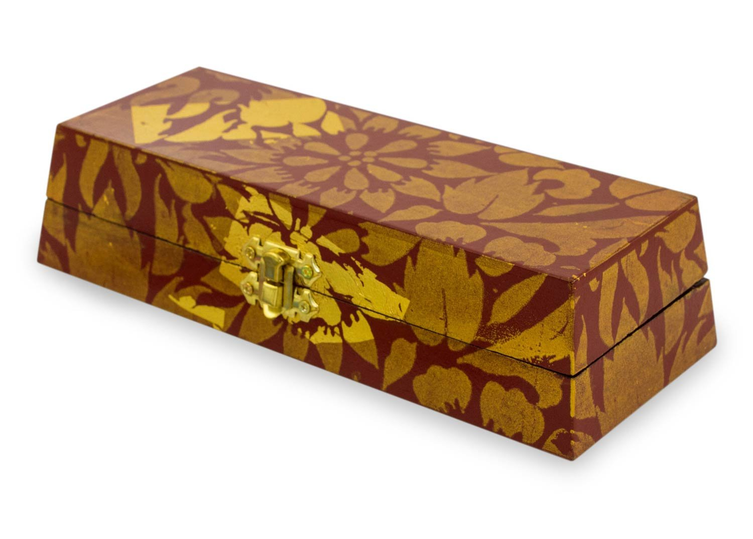 NOVICA ''Thai Serenade'' Wood Jewelry Box