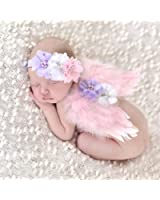EQLEF® Bella Baby Angel Feather Butterfly Wings Newborn puntello della foto del Ragazze Accessori per capelli