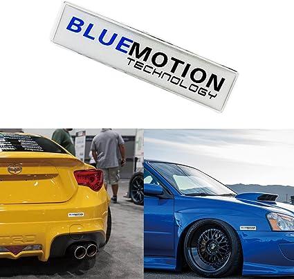 Aluminio BlueMotion emblema coche parrilla frontal Fender Cuerpo ...