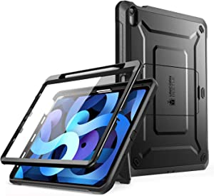 SUPCASE Unicorn Beetle Pro Series Case Designed for iPad Air 4 (2020) 10.9 Inch, with Pencil Holder & Built-in Screen Protector Full-Body Rugged Heavy Duty Case (Black)
