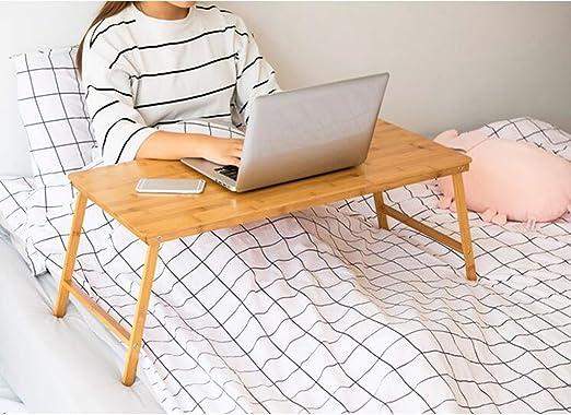 HQQ Plegable Laptop Cama de la Mesa pequeña Mesa albergue Perezoso ...