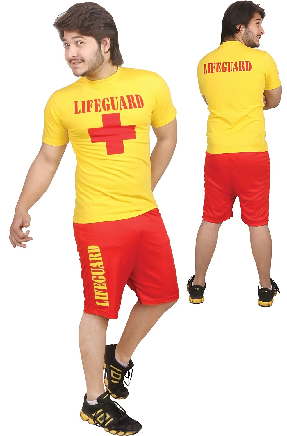 MENS LADIES LIFEGUARD COSTUME BEACH GUARD WEAR EMERGENCY SERVICES SIZE S-XXL (Menu0027s Large) Amazon.co.uk Toys u0026 Games  sc 1 st  Amazon UK & MENS LADIES LIFEGUARD COSTUME BEACH GUARD WEAR EMERGENCY SERVICES ...