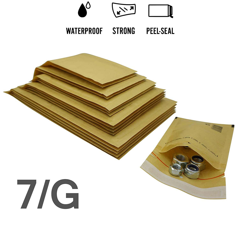 100 St/ück Luftpolsterumschl/äge in braun 200 x 275 elb-verpackungen - Luftpolstertaschen//Versandtaschen 4//D -
