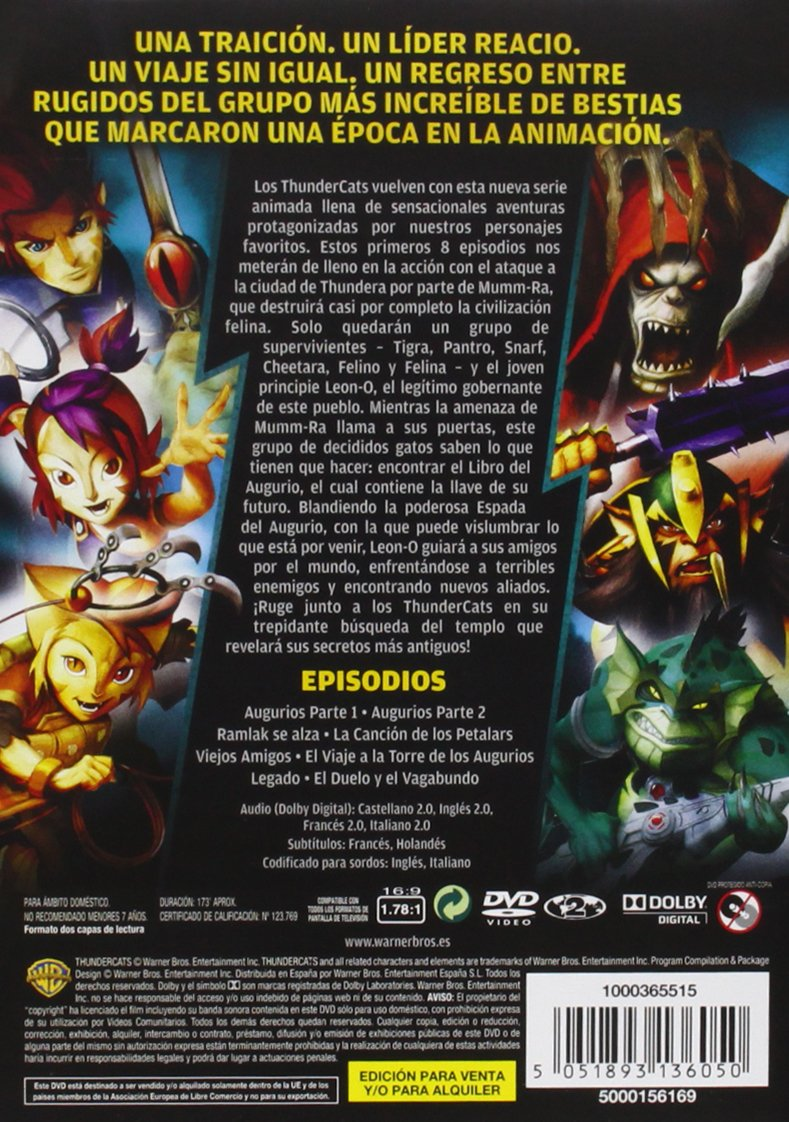Thundercats - Temporada 1 [DVD]: Amazon.es: Personajes ...