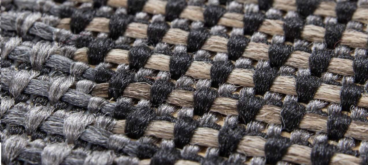 Sisal Look Grey Powerloom Flat-Weave Sunset Rugs Beyond 4 Feet X 56 Feet Fibrillated Polypropylene Outdoor Small Area Rug