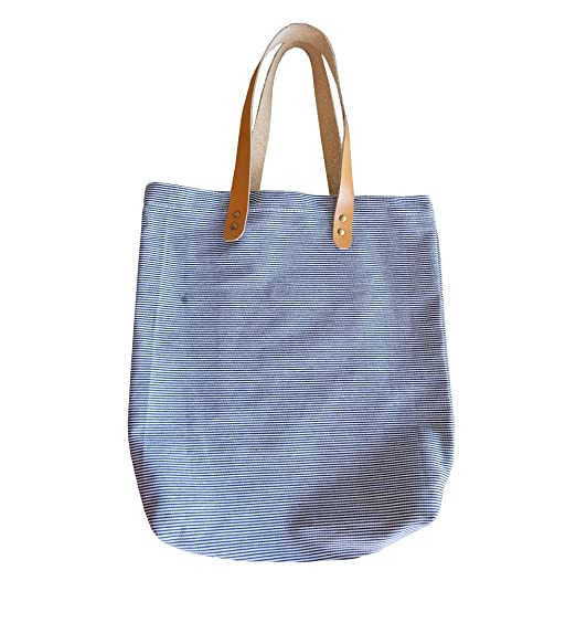 81633c542c9 Amazon.com: Teemixed Canvas tote bag with faux leather handle-005 ...
