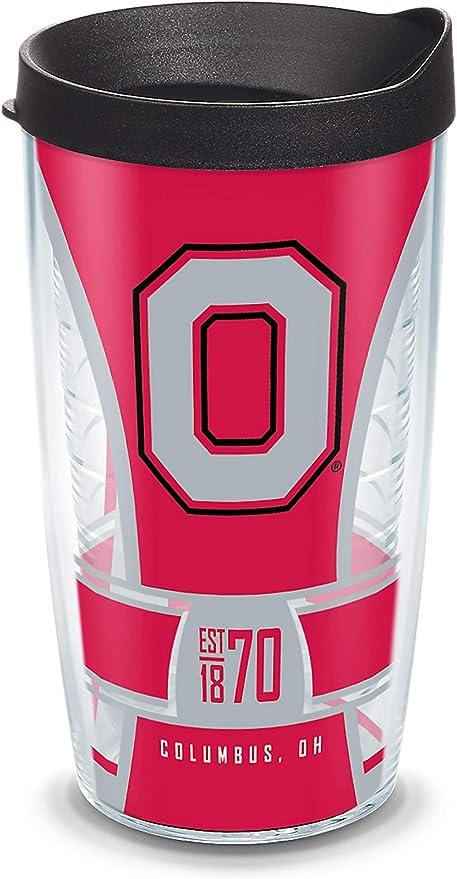 NCAA Ohio State Buckeyes 16-Ounce Traveler Mug with Lid