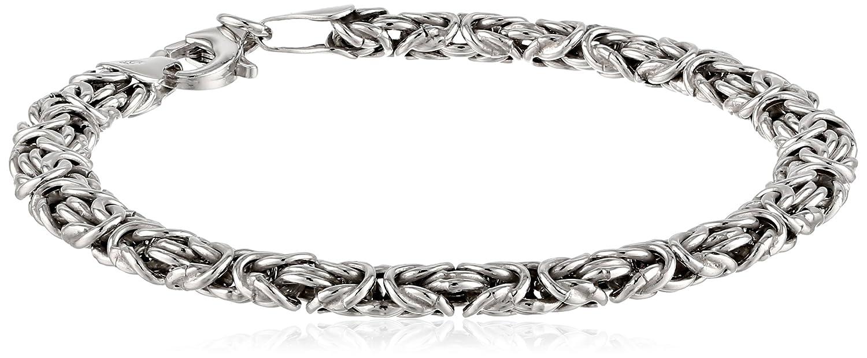 0b1f97ebd5af Amazon.com  Sterling Silver Byzantine Chain Bracelet