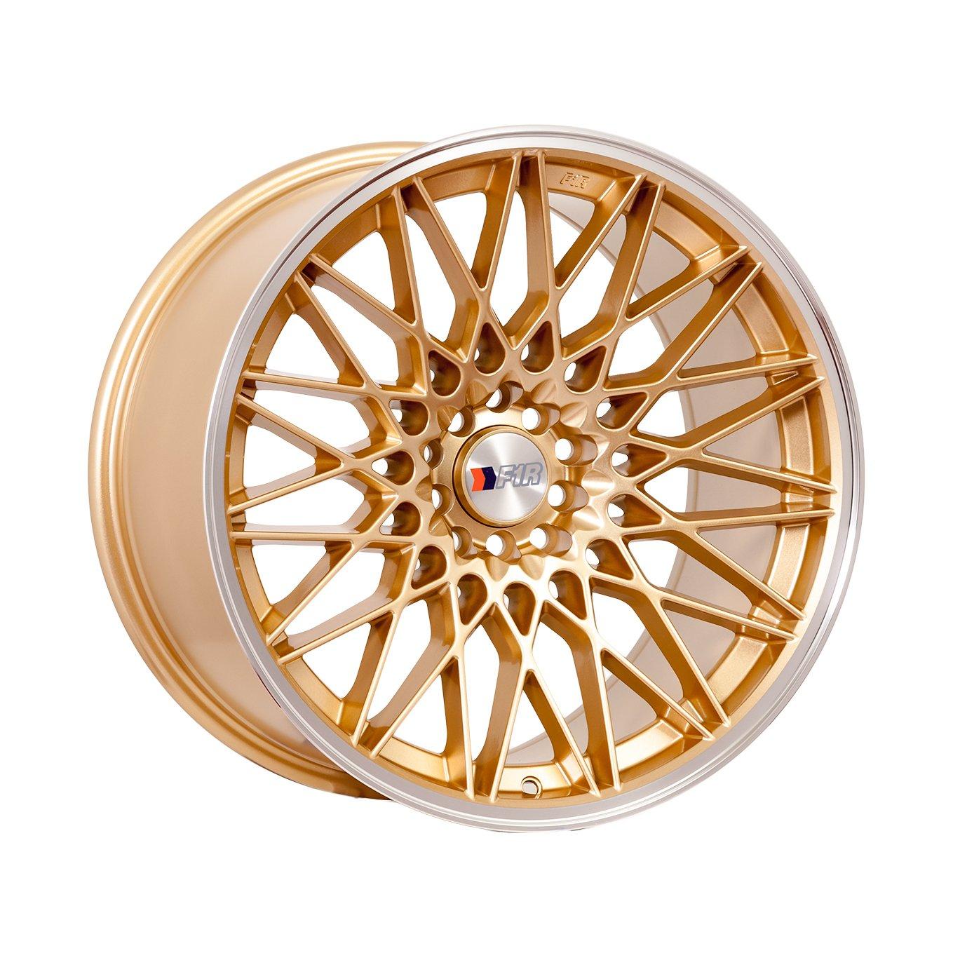 18x8.5 F1R F23 Gold w/ Polish Lip Rim Offset(38) Lug(5x100/5x114.3) Bore(73.1) 1 Wheel -- F231885G38