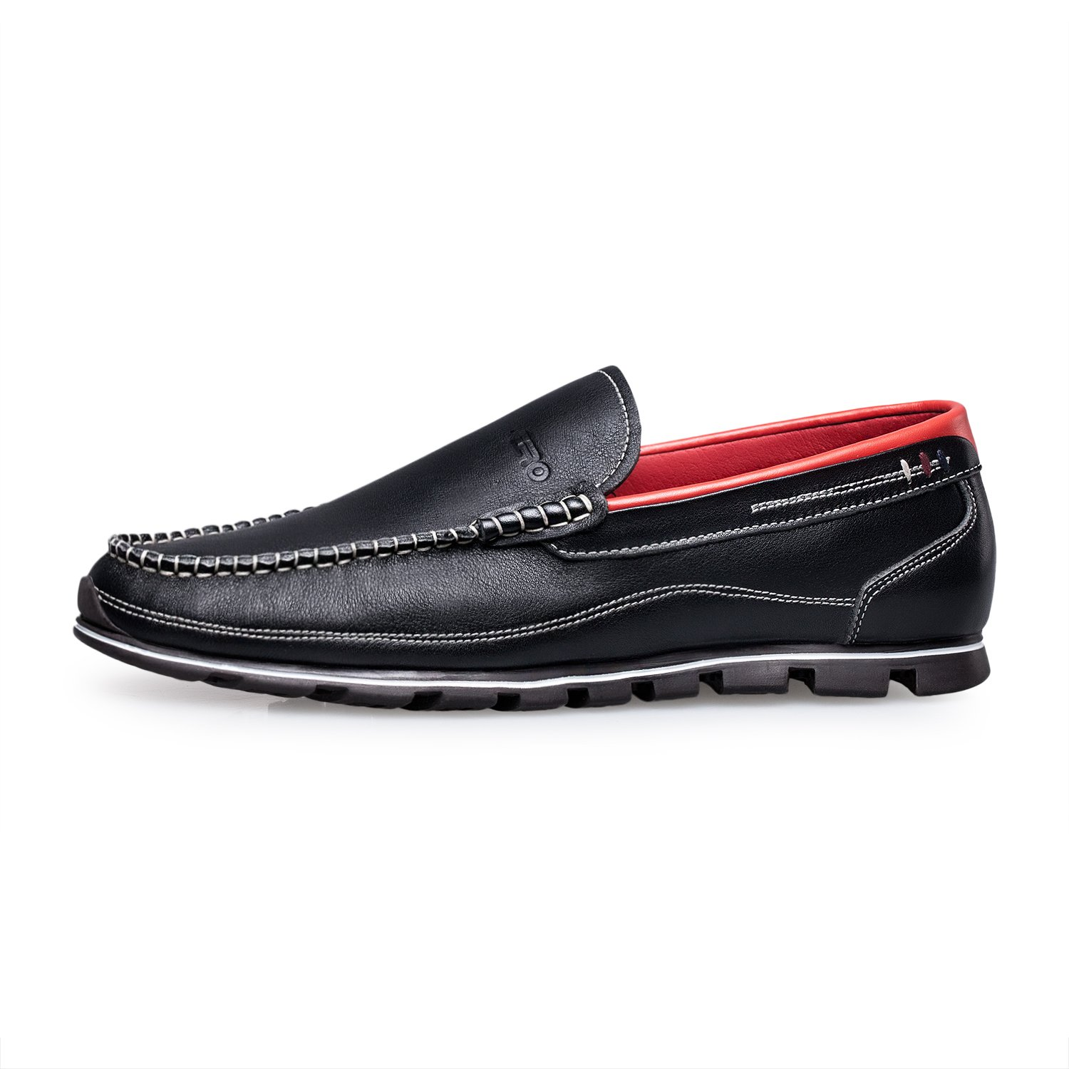 ZRO Men's Classy Black Penny Slip-on Loafer for Driving Working Walking Dress Running 10 M US by ZRO (Image #3)