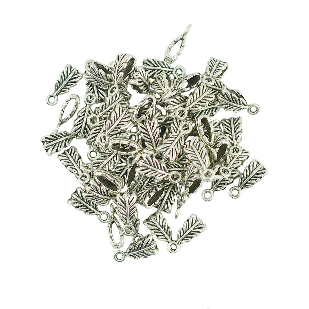 100 pcs vintage Tibetan Silver Plated moon Charms Metal Pendants for Jewelry Making DIY Handmade Craft 18x12mm Beading & Jewelry Making Arts, Crafts & Sewing