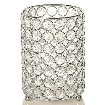 Vincigant Kristall Kerzenhalter Silber Teelichthalter Vasen Mit 2 M