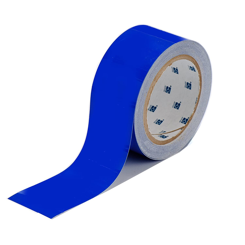 Brady ToughStripe Nonabrasive Floor Marking Tape, 100' Length, 2' Width, Blue (Pack of 1 Roll) 100' Length 2 Width 104314