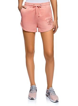 oodji Ultra Damen Baumwoll-Shorts mit Bindebändern  Amazon.de  Bekleidung a29f8d68e8