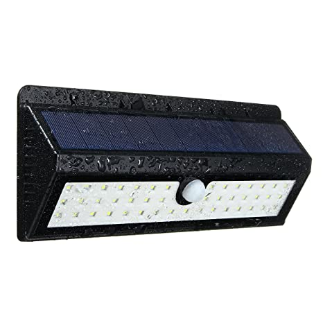 King Do Way 44 Farol solar LED con detector de movimiento, con sensor iluminado con