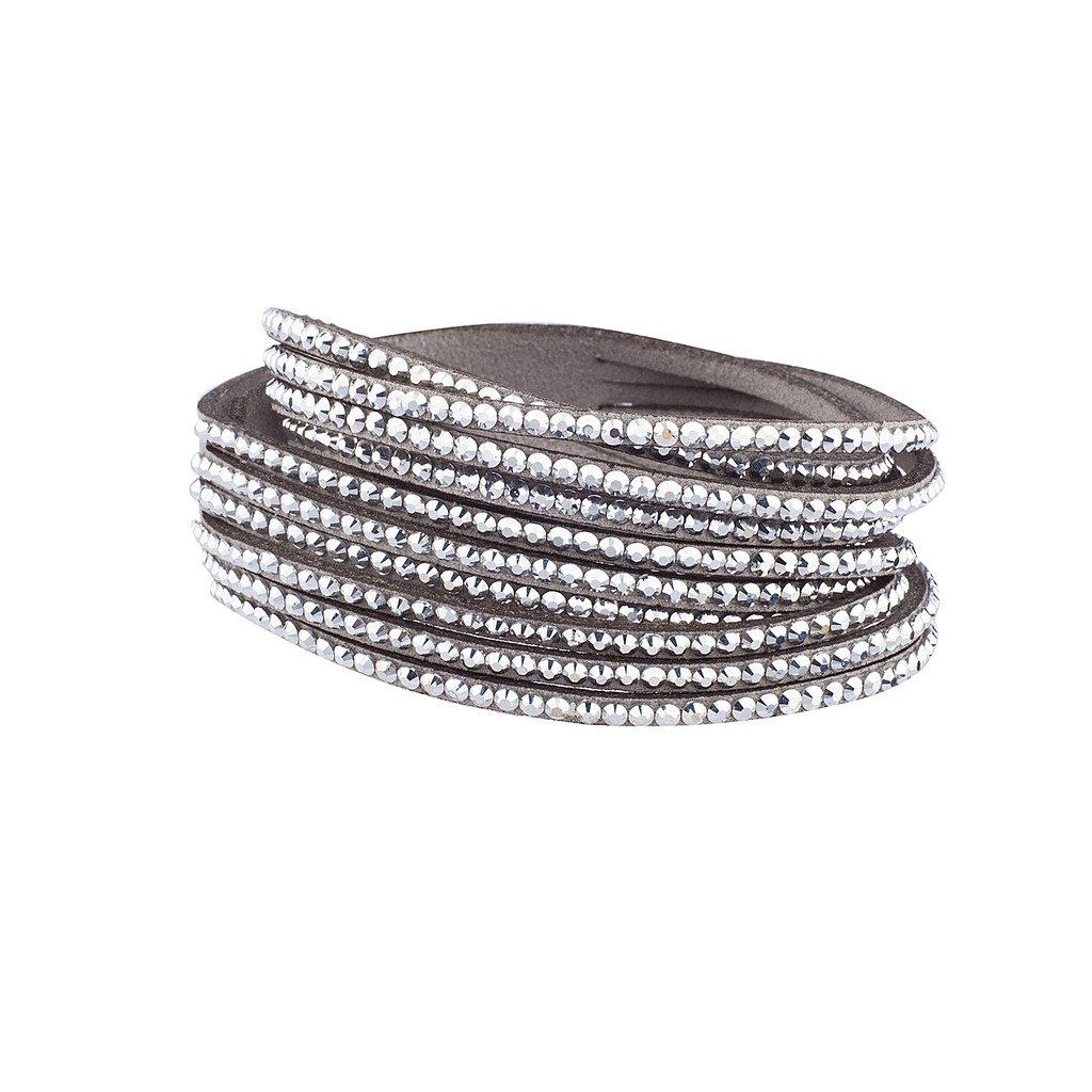 Lux Accessories Gemstone Suede Bling Wrap Bracelet B200050-3-B665