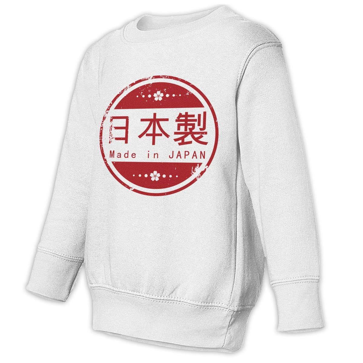 Made in Japan Baby Sweatshirt Adorable Kids Hoodies Comfortable Pullovers
