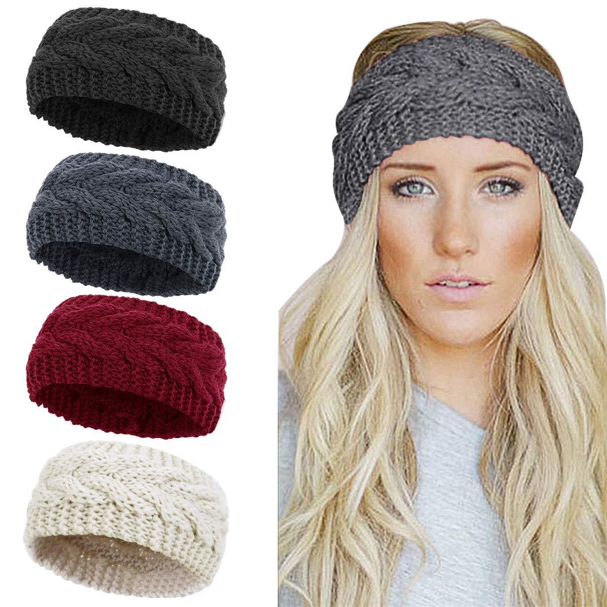 Fashion American Flag Headband Knitted Hairband Women/'s Warmer Crochet Headwrap