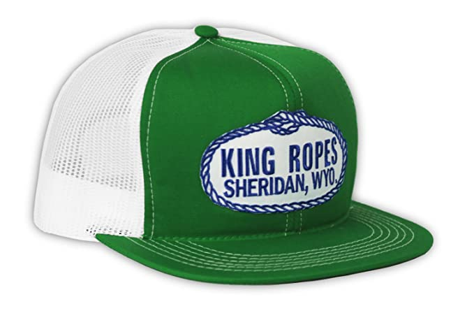 7cebdd3a Kings Saddlery Brand King Ropes Snapback Adjustable Green with White Mesh  Hat