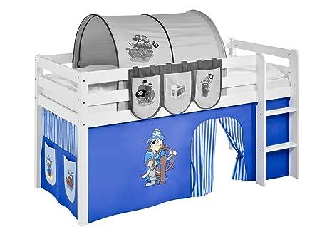 Etagenbett Vorhang Blau : Lilokids vorhang pirat blau für hochbett spielbett und