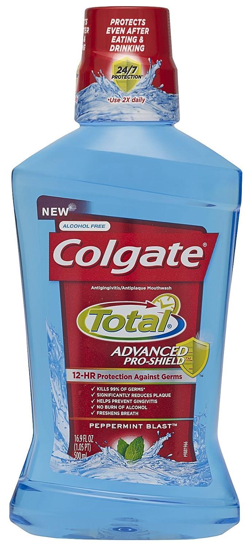 Colgate Total Advanced Pro-Shield Mouthwash, Peppermint Blast, 16.9 Fluid Ounce Colgate-Palmolive Co 035000671226