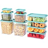 TUSEASY Food Storage Containers Set With Lids Airtight Invisible lock Kitchen BPA Free Plastic Storage Container Freezer Supp