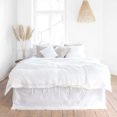 white linen duvet cover queen size