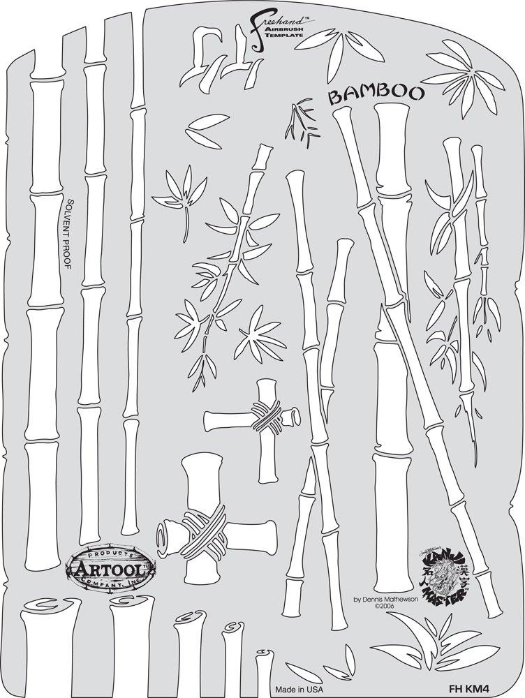 Kanji Master IWATA MEDEA Artool Freehand Airbrush templates