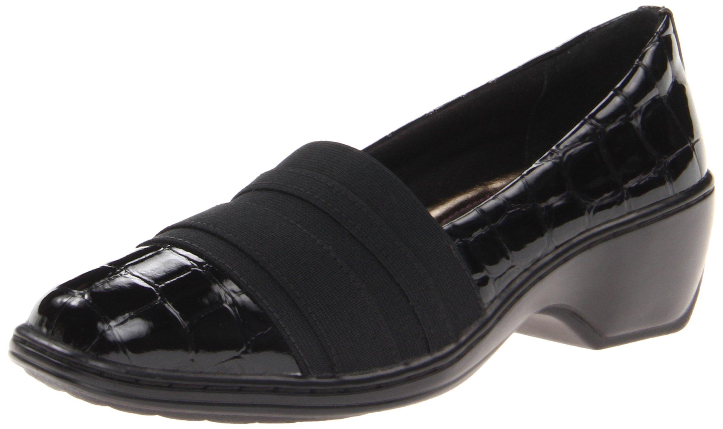 Aravon Women's Kasey Slip-On,Black Croc,5 M US