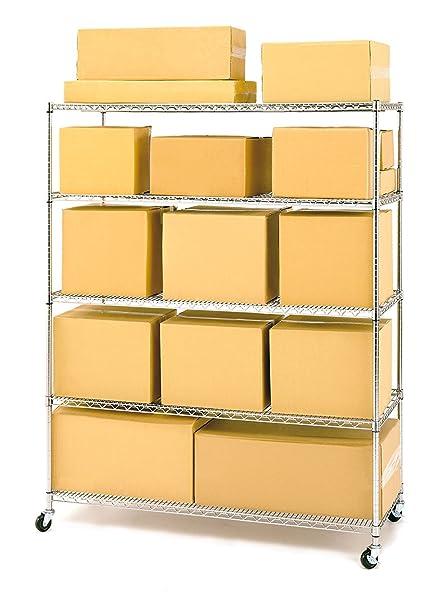 Amazon.com: Estante de alambre Seville Classics de 5 pisos ...