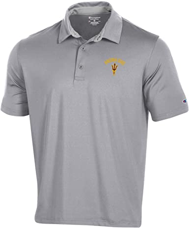 Clemson Tigers NCAA Champion Mens Textured Solid Polo X-Large