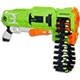 NERF Zombie Strike - Ripchain Blaster - Pump Action - Dart Chain & 25 Elite Darts - Kids Toys & Outdoor Games - Ages 8+