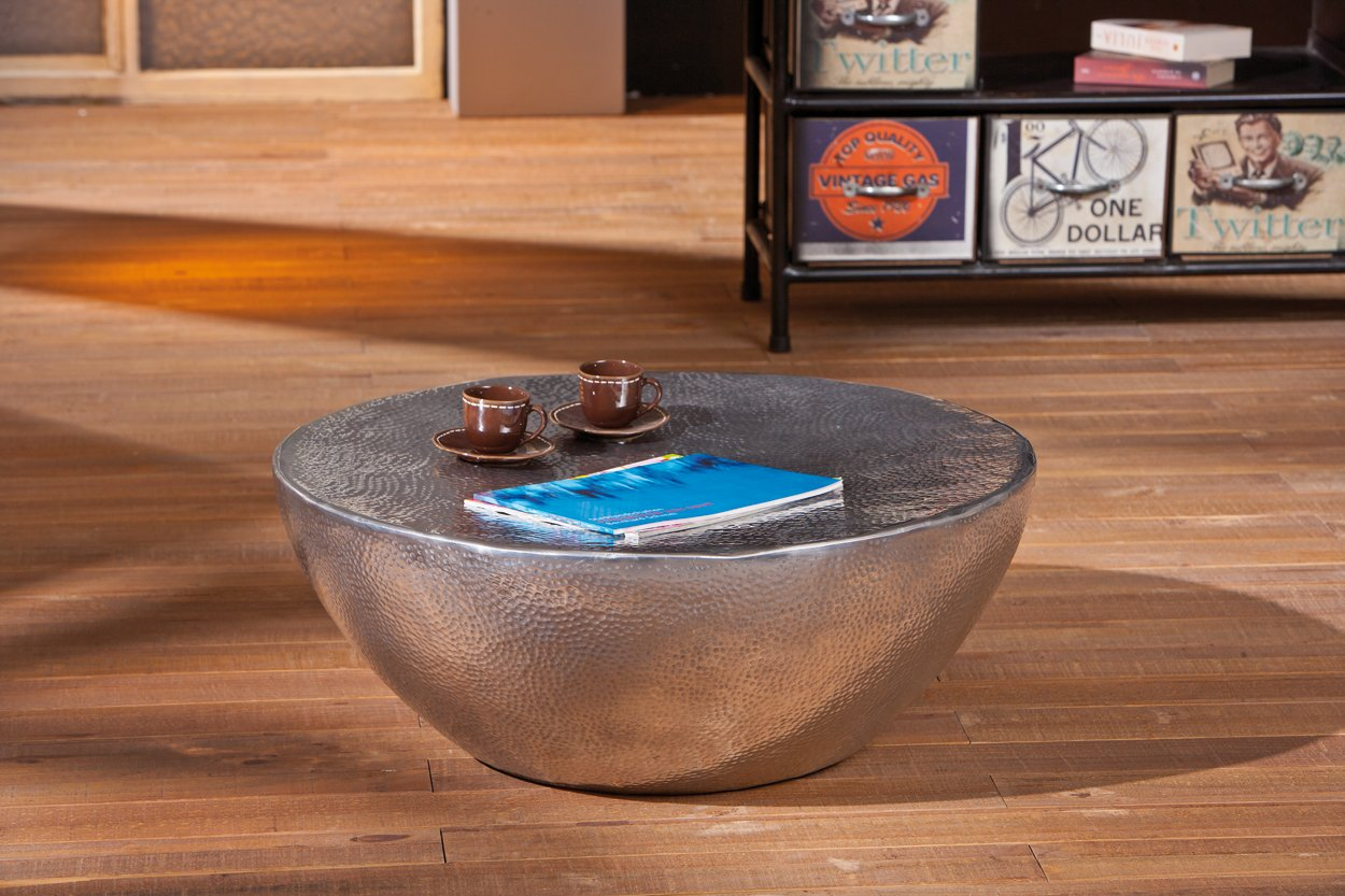 Links 87300500 Couchtisch Lounge Tisch Design Beistelltisch Wohnzimmer Alu Rund 70 Cm NEU Amazonde Kche Haushalt