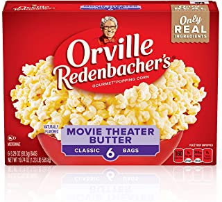 product image for Orville Redenbacher's Movie Theater Butter Microwave Popcorn, 3.29 Oz 6-ct bag