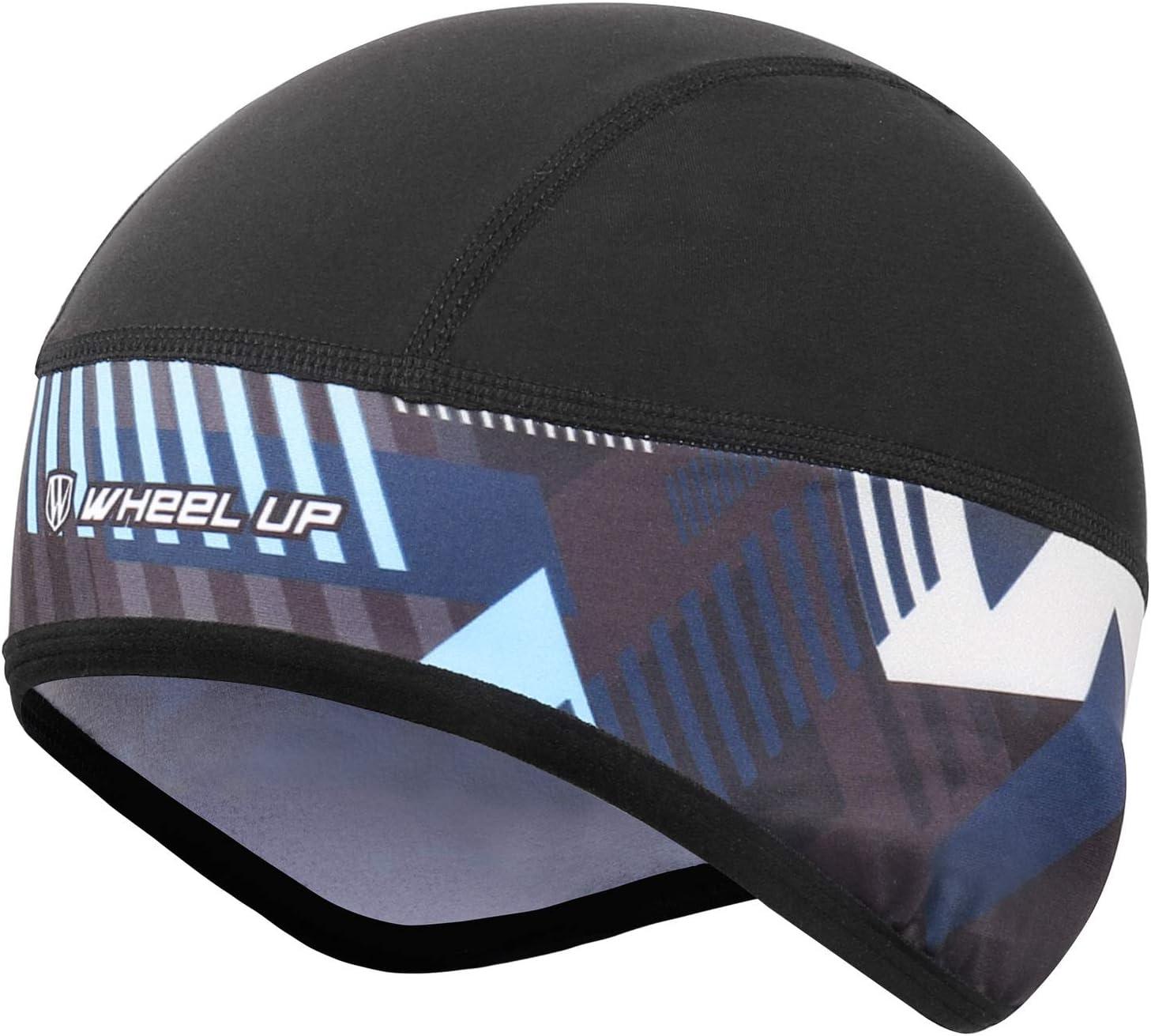 Casquette de Cyclisme Homme Bonnet sous Casque Casquette Skull Cap Hiver en Polaire Chaud Coupe-vent Respirant Calotte de Cyclisme Adapt/é /à la Course V/élo Ski Moto Randonn/ée
