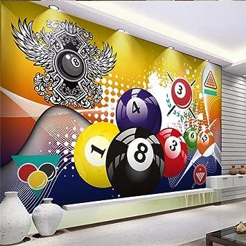 Pegatinas De Pared Mesa De Billar Moderna Personalizada Decoración Industrial Papel Tapiz Mural Juego De Billar 3D Papel Tapiz De Fondo Tela De Pared 3D-250Cmx175Cm: Amazon.es: Bricolaje y herramientas