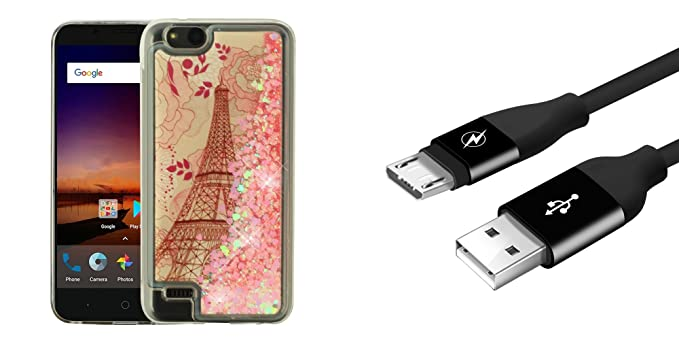 Amazon com: Bemz Liquid Series Glitter Case (Eiffel Tower) for ZTE
