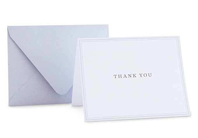 amazon com small thank you cards gray note cards classic