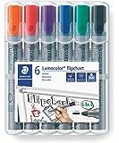 Staedtler Lumocolor قلم رصاص 356 WP6 ST طرف رفيع - ألوان متنوعة (عبوة من 6)