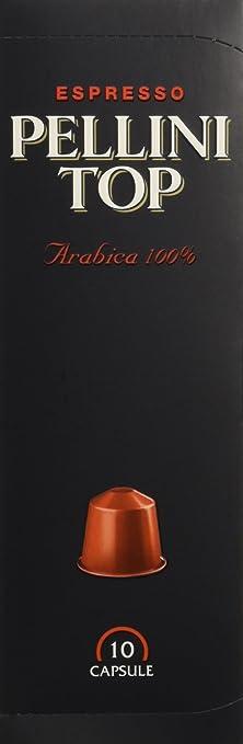 7 opinioni per Pellini Caffè Top Arabica (12 astucci da 10 capsule- totale 120 capsule),
