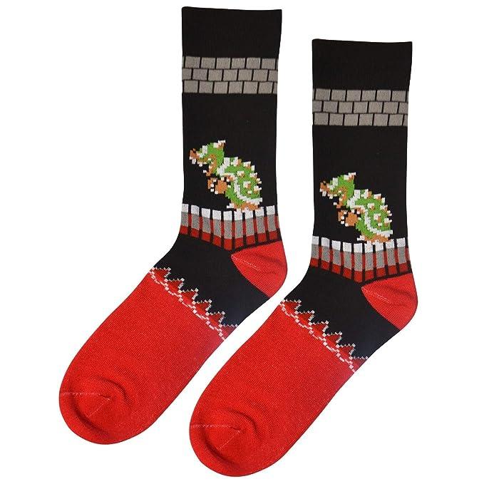 Dungeon Super Mario Bros Classic King Koopa Bowser Socks