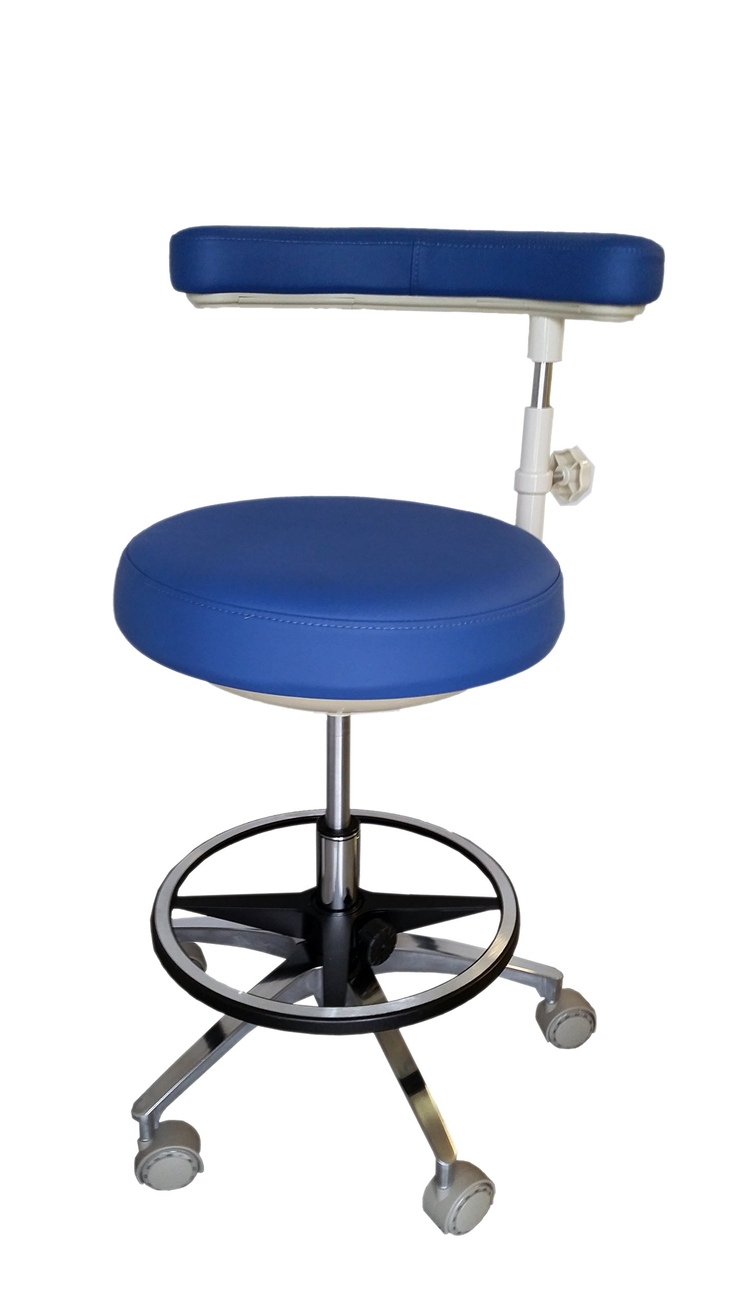 Assistant's Stool - Premium Dental Assistant's Stool, Dark Blue by Certified Dental Supply